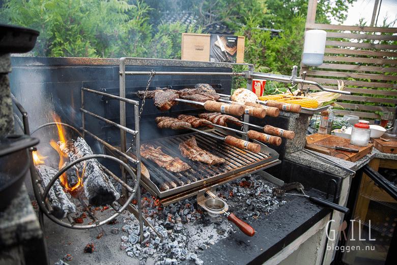 Argentinsk grill hur hittar jag V format grillgaller